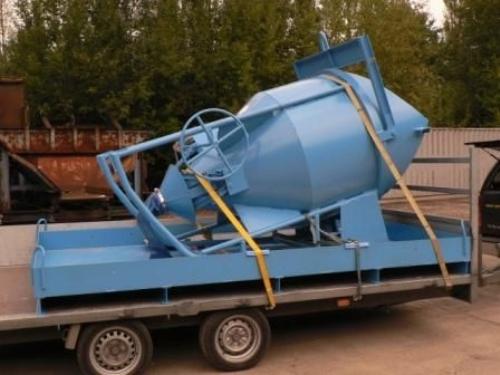 Opvangbak voor cementmelk van betonkubel