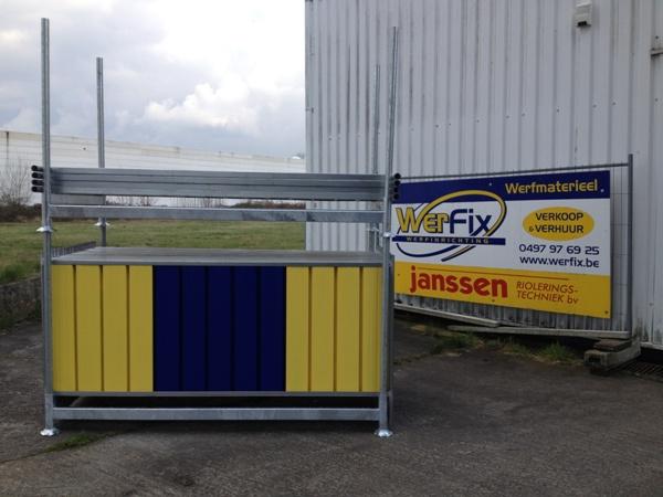 Palette pour clôtures bleu-jaune