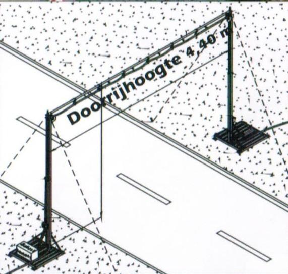 Kabelbrug als wegoverspanning in verhuur
